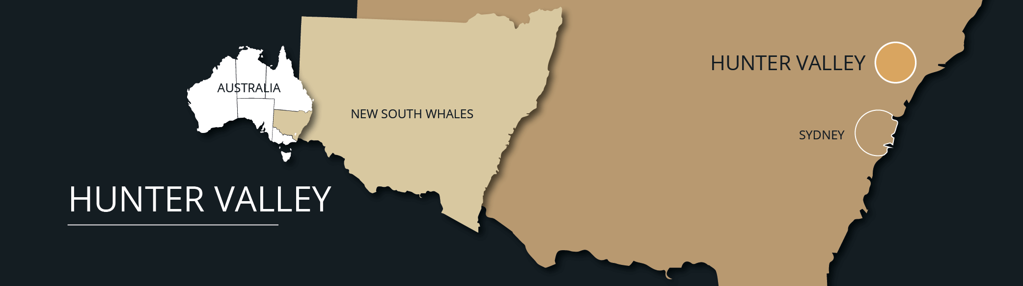 Hunter Valley Wine Tours from Sydney Location Map